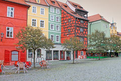 Maison médiévale Place du marché dans Cheb, République Tchèque Photographie stock