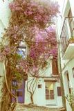 Maison méditerranéenne blanche typique, dans le village de Cadaques, o Photos stock