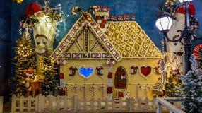 Maison magique de Noël de Santa Claus Photo stock