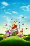 Maison magique de Pâques photographie stock libre de droits