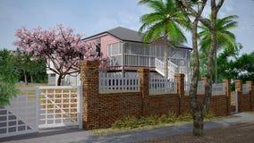 Maison, maison, Australien, cottage Photographie stock