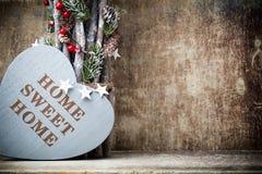 Maison Maison douce Décor intérieur Coeur rustique Photo libre de droits