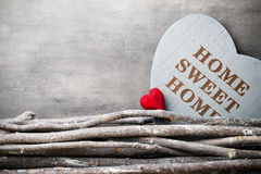 Maison Maison douce Décor intérieur Coeur rustique Image libre de droits