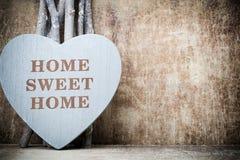 Maison Maison douce Décor intérieur Coeur rustique Photo stock