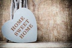 Maison Maison douce Décor intérieur Coeur rustique Photos libres de droits