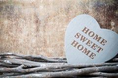 Maison Maison douce Décor intérieur Coeur rustique Image stock