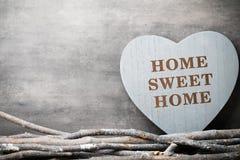 Maison Maison douce Décor intérieur Coeur rustique Photographie stock libre de droits