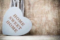 Maison Maison douce Décor intérieur Coeur rustique Photos stock