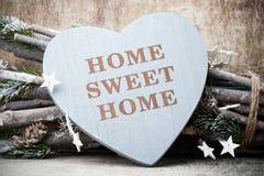 Maison Maison douce Décor intérieur Coeur rustique Photographie stock