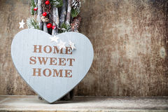 Maison Maison douce Décor intérieur Coeur rustique Images stock