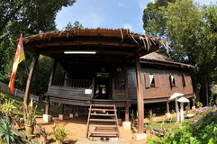 Maison malaise traditionnelle Photographie stock libre de droits