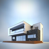 Maison minimaliste contemporaine Image libre de droits