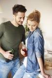 Maison mobile de couples nouvelle Image libre de droits