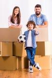 Maison mobile de famille photographie stock libre de droits