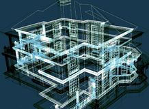 Maison moderne abstraite Image libre de droits