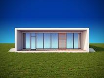 Maison moderne dans le type minimaliste. Images stock