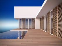 Maison moderne dans le type minimaliste. Photo stock
