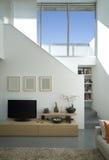 Maison moderne intérieure de brique images stock