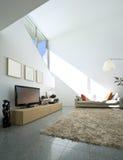 maison moderne intérieure de brique photographie stock