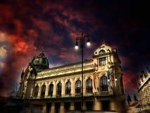 Maison municipale à Prague images stock