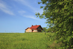 Maison neuve de famille Photos stock