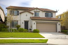 Maison nordique de la Californie Subruban Images libres de droits