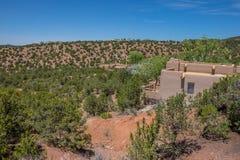 Maison Nouveau Mexique rural de style d'Adobe Photos libres de droits