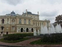 Maison Odessa Ukraine d'opéra et de ballet Photos stock