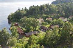 Maison par la mer Image libre de droits