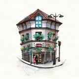 Maison parisienne typique, France illustration libre de droits