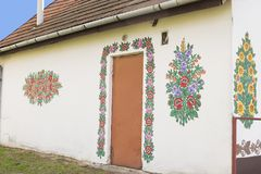 Maison peinte Photographie stock