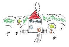 Maison peinte illustration de vecteur