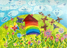 Maison peinte Photos libres de droits