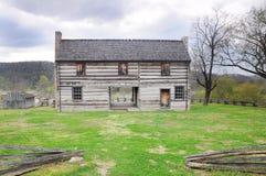 Maison pionnière historique Photos stock
