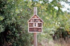Maison pour des insectes dans le jardin Photos libres de droits