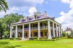 Maison principale de plantation et de jardins de Chambre de Houmas Photographie stock