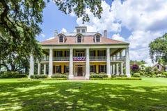 Maison principale de plantation et de jardins de Chambre de Houmas Photographie stock libre de droits