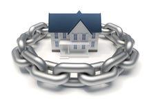 Maison protégée Image stock