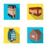 Maison résidentielle dans le style anglais, un cottage avec des vitraux, un bâtiment de café, une hutte en bois architectural Photo stock
