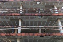 Maison résidentielle en construction de construction Photographie stock libre de droits