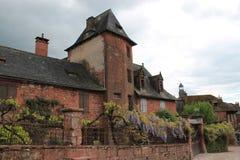 Maison Ramade de la Serre, Collonges-la-rouge (Frankrike) Arkivfoto