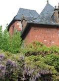 Maison Ramade de la Serre, Collonges-la-rouge (Frankrike) Arkivbilder