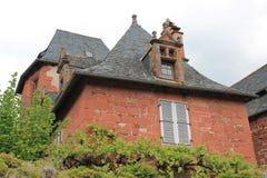 Maison Ramade de la Serre, Collonges-la-rouge (Frankrike) Royaltyfria Foton