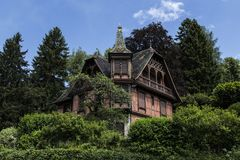 Maison romantique en Alsace Photos libres de droits