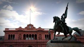 Maison Rosada et monument, à Buenos Aires clips vidéos