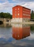 Maison rouge à Tampere photographie stock libre de droits