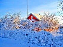 Maison rouge Images stock