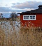 Maison rouge Photographie stock libre de droits