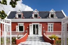 Maison rouge de secteur de Pietermaai vieille image libre de droits