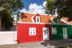 Maison rouge de secteur de Pietermaai vieille photo libre de droits